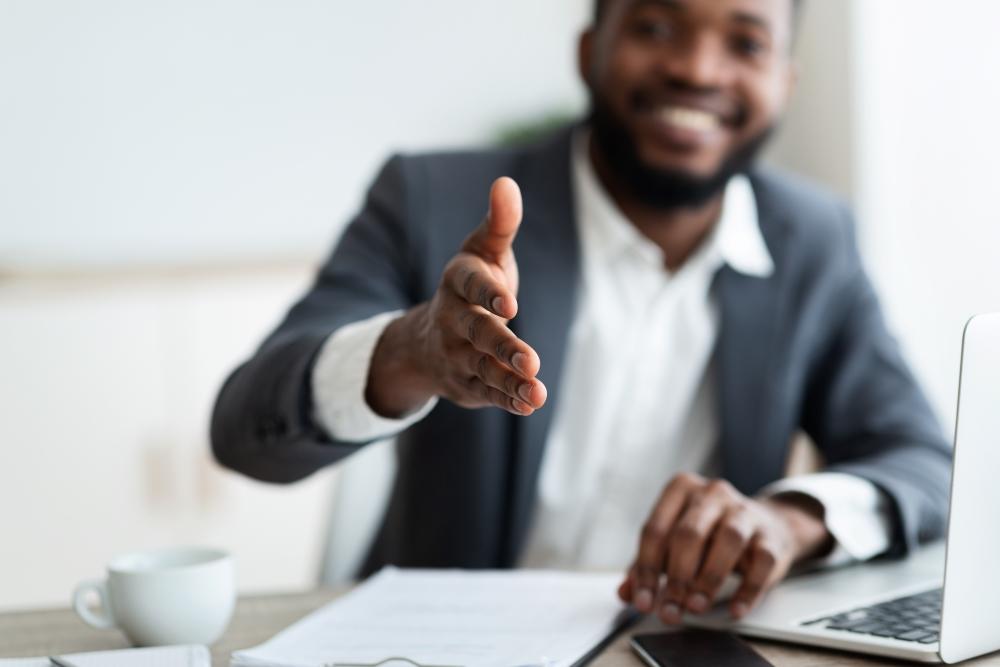 sales man business meeting